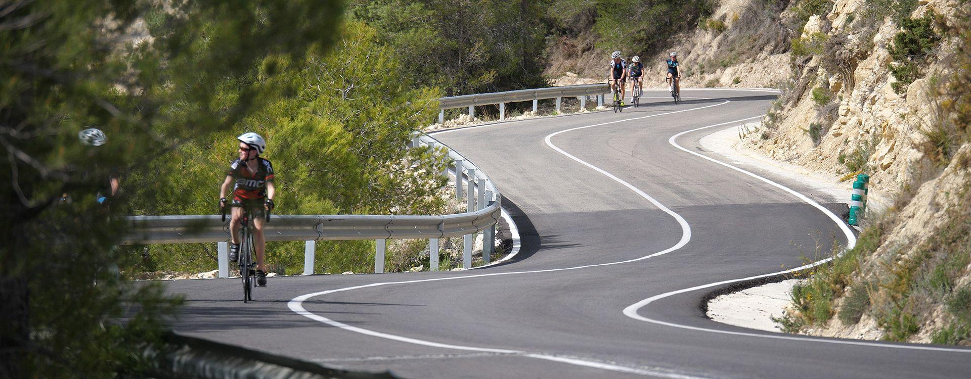 Mooie omgeving om te fietsen in Calpe